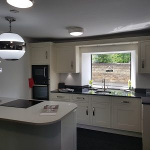 Lacquer Finish Kitchen in the Showroom